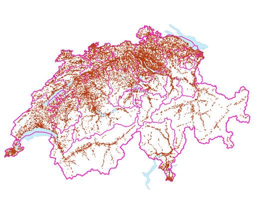 Altlasten Karten der Schweiz ( Stand 2014)